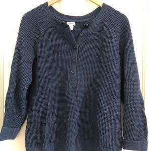 LL Bean Waffle Henley Sweater